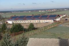 2004, Reiterhof Taura, Montage PV-Anlage