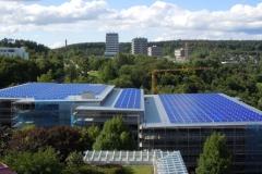 2009, Parkhaus Crona Tübingen, Montage PV-Anlage